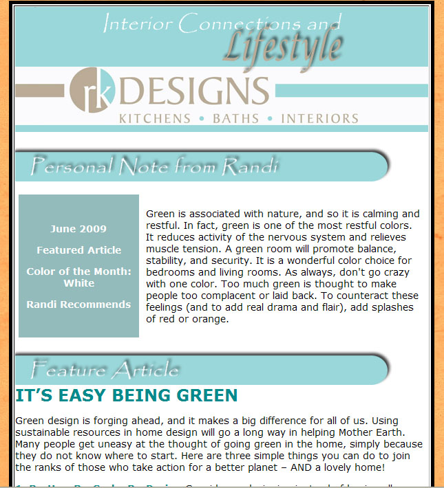 Newsletter Sample 3